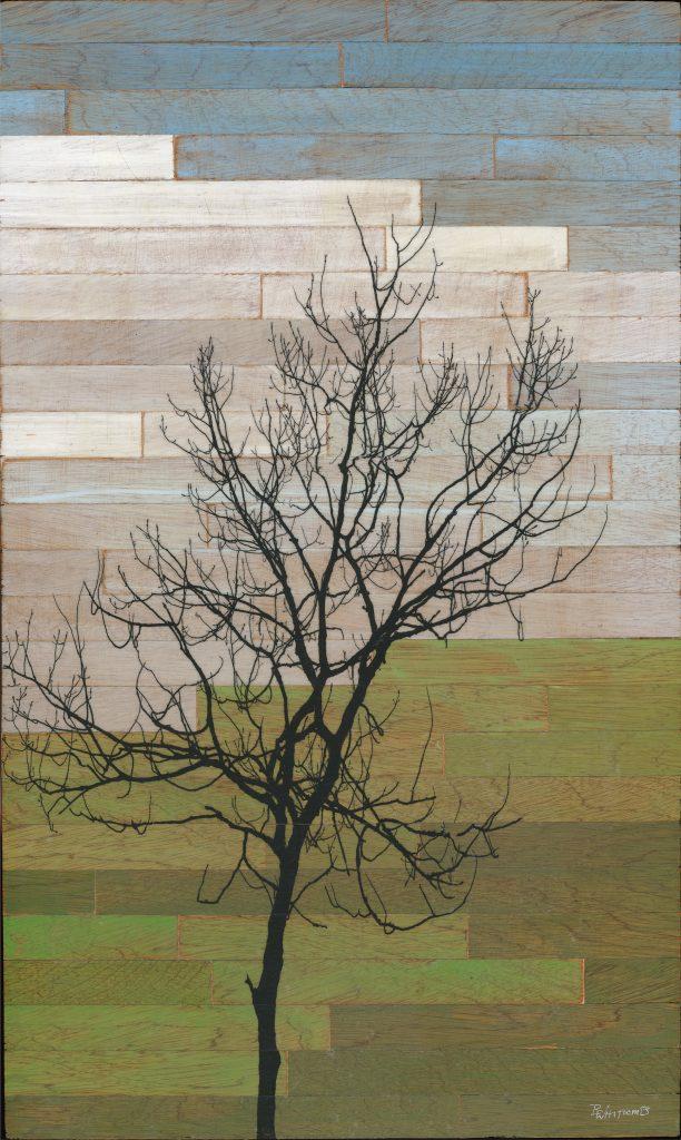 Mosaic Tree, a mixed media artwork by Brady Whitcomb
