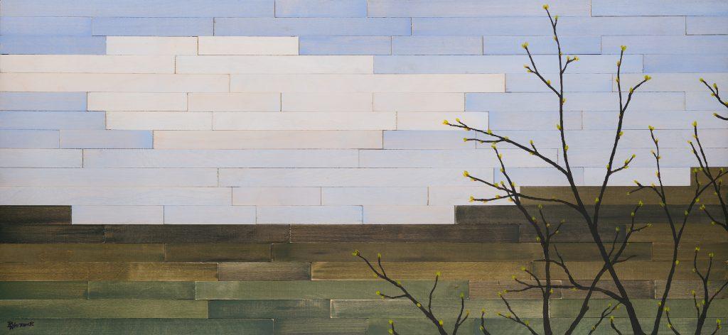 Mosaic Spring, a mixed media artwork by Brady Whitcomb