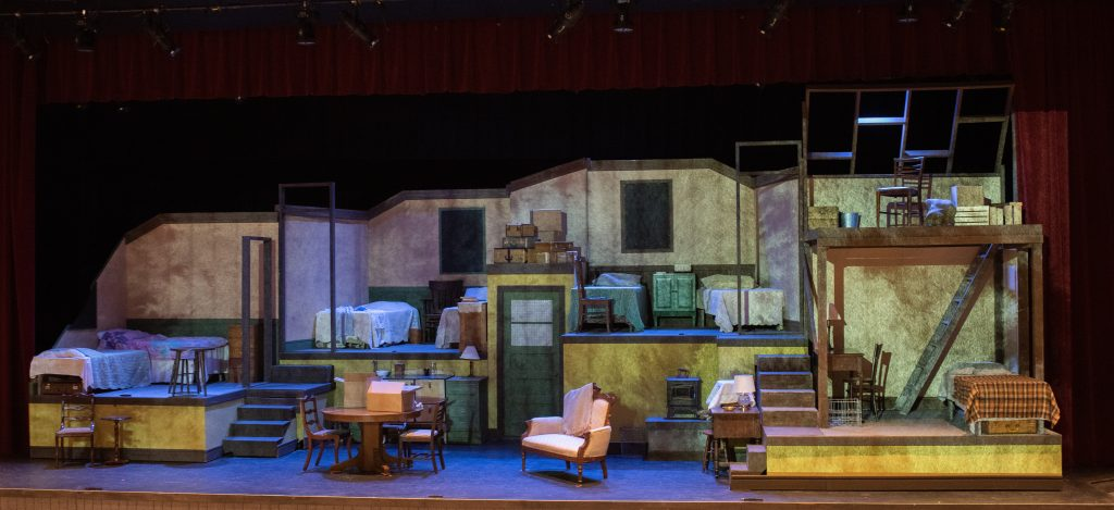 Set Design for The Diary of Anne Frank 2021